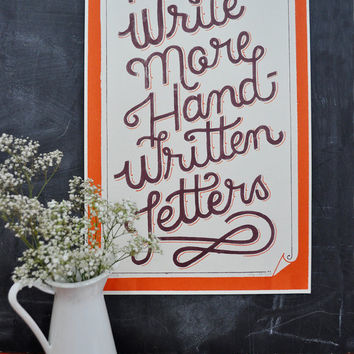 $25.00 Write More Handwritten Letters by MaryKateMcDevitt on Etsy