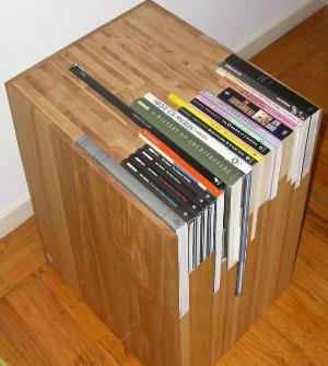 Custom Stacked Book Side Table by janedandy on Etsy