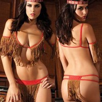 Sexy Teepee Nights Indian Naughty Costume Set - MEDIUM/LARGE