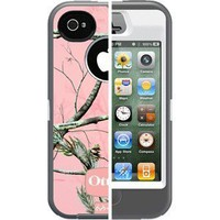 Otterbox Defender Realtree Series for iPhone 4/4S - 1 Pack - Case - Retail Packaging - Grey/APC Camo Pattern