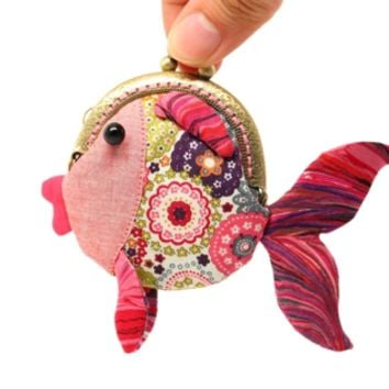 Supermarket: Tiny red goldfish clutch purse from Misala Handmade Bags & Purses