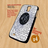5SOS QUOTE - Print On Hard Case Samsung Galaxy S4 i9500