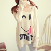 Smiling Face Long Knitwear