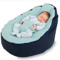 BayB Brand Infant and Toddler Bean Bag -Filled, Ready To Use (Blue/Blue):Amazon:Home & Kitchen