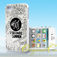 5 Seconds Of Summer Collage quote - Print on hardplastic for iPhone 4/4s and 5 case, Samsung Galaxy S3/S4 case.