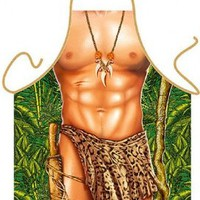 Tarzan Leopard Sexy Kitchen Cooking Apron