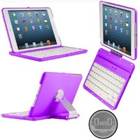 CoverBot iPad Mini Keyboard Case Station PURPLE. Bluetooth Keyboard For 7.9 Inch New Mini iPad with IOS Commands. Folio Style Cover with 360 Degree Rotating Viewing Stand Feature:Amazon:Computers & Accessories