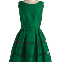 Dinner Party Darling Dress in Emerald | Mod Retro Vintage Dresses | ModCloth.com
