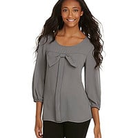 Moa Moa Bow-Embellished Blouse | Dillards.com