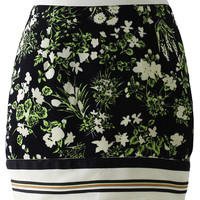Floral Print High-waist Bud Skirt