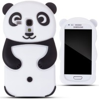 Zooky® nero silicone panda COVER / CASE / CUSTODIA per Samsung Galaxy S3 MINI (I8190):Amazon:Elettronica