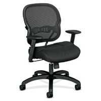Basyx by HON VL712 Mid-Back Swivel/Tilt Work Chair - Black Mesh