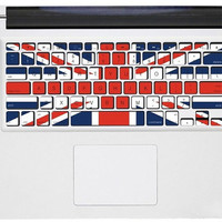 Uk flag mac pro retina keyboard decals mac pro stickers mac keyboard decal mac stickers mac stickers macbook for  mac pro /air /laptop