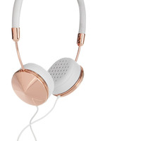 Frends | Layla leather and rose gold-tone headphones | NET-A-PORTER.COM