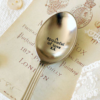 A Spoonful Of Love Vintage Style Spoon