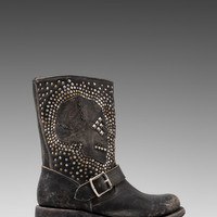 Frye Jenna Skull Stud Short Boot in Black from REVOLVEclothing.com