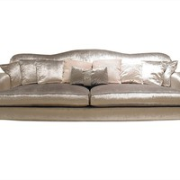 3 SEATER VELVET SOFA WITH REMOVABLE COVER GINEVRA | VISIONNAIRE