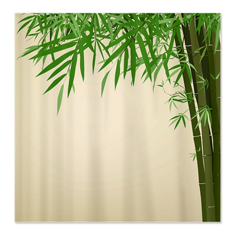 Antique Bamboo Print Shower Curtain By From Cafepress