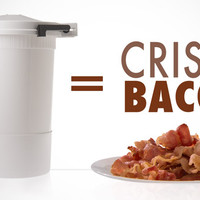 Wow Bacon: Microwave crispy bacon in minutes without mess.