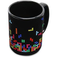 ThinkGeek :: Falling Puzzle Blocks Mug