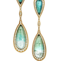 Fernando Jorge | 18-karat gold, tourmaline and diamond earrings | NET-A-PORTER.COM