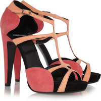 Pierre Hardy Two-tone suede sandals – 80% at THE OUTNET.COM