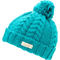 Neff Girls Kaycee Ceramic Teal Pom Fold Beanie at Zumiez : PDP