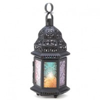 Gifts & Decor Iron Glass Magic Rainbow Candle Holder Hanging Lantern:Amazon:Home & Kitchen