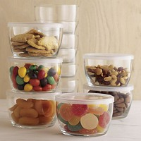 Set of 12 Storage Bowls With Clear Lids in Food Storage | Crate&Barrel