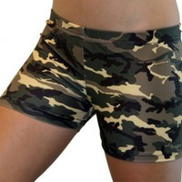 Camouflage Spandex Shorts Inseam in 3 Lengths:Amazon:Clothing