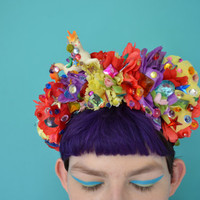 Super Kawaii Glittery Unicorn Flower Headband