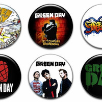 Green Day Pinback Buttons Badges Pins
