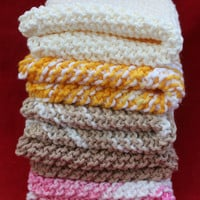Hand Knitted Dishcloths - Your Choice of 2 Cloths