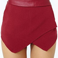 Courted Skort - Wine