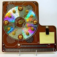 RECYCLED CIRCUIT BOARD Geekery Desk CLOCK  A by DebbyAremDesigns