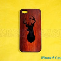 iPhone 5s Case, iPhone 5 case,  iPhone 5 cases, Deer Head case iPhone 5 Case For your iphone 5 Black White Fast Ship