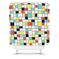 DENY Designs Home Accessories | Jacqueline Maldonado Geo Square Shower Curtain