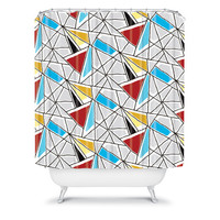 DENY Designs Home Accessories | Karen Harris Shattered In Bauhaus Shower Curtain