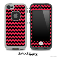 V4 Chevron Pattern Black and Red Skin for the iPhone 5 or 4/4s LifeProof Case - iPhone
