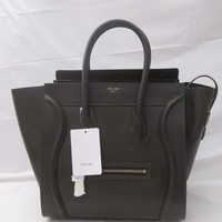 NWT Brand New Celine Mini Luggage Leather Tote Bag