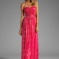 ERIN erin fetherston Christina Sparkle Gown in Bright Rose from REVOLVEclothing.com