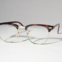 VENBE Clear Tort Brown Clubmaster Eye Glasses