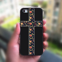 iphone 5S case,Floral Cross,iphone 4 case,iphone 4S case,iphone 5 case,iphone 5C case,ipod 4 case,ipod 5 case,phone case,iphone case
