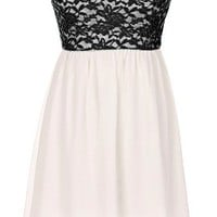 The Strapless Black Lace Dress