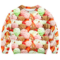 ROMWE | Ice-cream Print Sweatshirt, The Latest Street Fashion