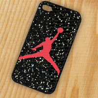 Nike Air Jordan Logo iPhone 5 iPhone 4 - 4S Plastic Hard Case Rubber Soft Case