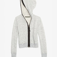 Enza Costa EXCLUSIVE Leather Trim Hoodie-Just In-Clothing-Categories- IntermixOnline.com