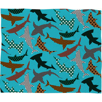 DENY Designs Home Accessories | Raven Jumpo Polka Dot Sharks Fleece Throw Blanket