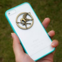 The Hunger Games Mockingjay Charm Pendant Inspired Case for iPhone 5