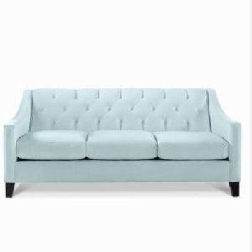 Chloe Velvet Metro Living Sofa - Sofas & Sectionals - furniture